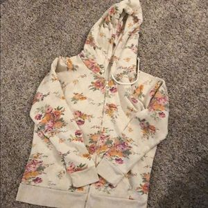 "Tops - Women's floral ""mama bear"" zip up hoodie"